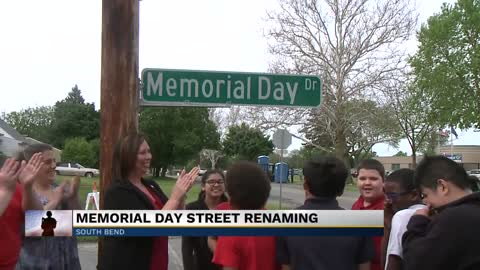 City of South Bend temporarily renames street to celebrate Memorial...